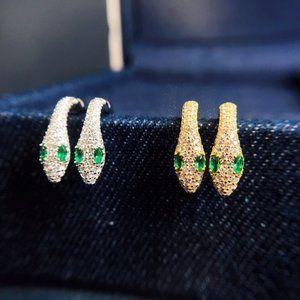 Apm Monaco French Style Snake Earrings